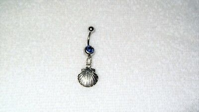 Ocean Shell Charm Belly Button Navel Ring Body Jewelry Piercing Beach Vacation