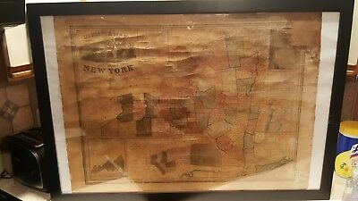 Antique Map of New York 1849 Ensigns & Thayer orig. 22 x 30