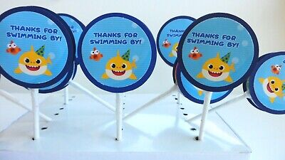 Baby Shark Party favors,Lollipops, Party supplies /  Birthday Party 10 FOR 9.99
