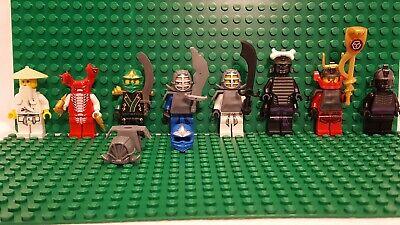 Lot of 8 LEGO Ninjago Minifigures: Sensei Wu/Fangdam/Lloyd/Jay/Zane/Garmadon/Nya