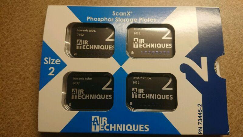 Air Techniques Scan X phosphor plates size 2 quantity 4