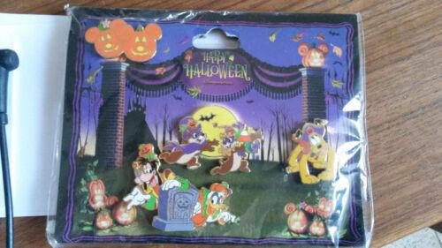 Happy Halloween Chip Dale Pumpkin booster set Disney Paris Dlrp Dlp 2009 4 pins