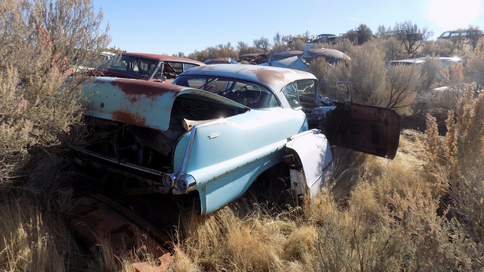 Used 1956 Cadillac Deville Exterior Parts For Sale 1954 Sedan 1955 Coupe 2 Door 1 4 Scoop Molding Nice Dry Desert Chrome