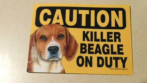 Beagle Caution sign