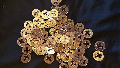 100 NEW Cross Pennies for Christian Ministries   Punch out's