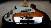 Lefty Fender 57 reissue P Bass EMGs + Fender gigbag left handed  Box Hill South Whitehorse Area Preview