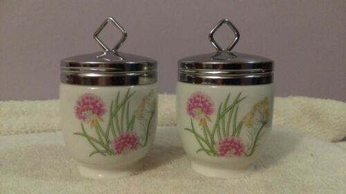 Egg Coddlers Set of 2 Shafford Herb and Spices pattern OH447