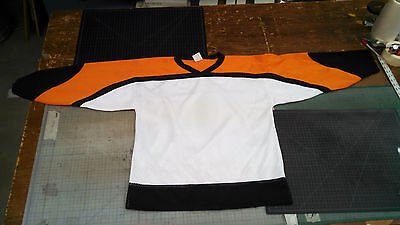 hockey jersey uncrested Flyers heavy mesh, med. closeout !