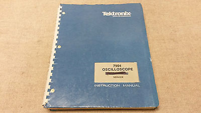 Tektronix 7904 Oscilloscope Mf Service And Instruction Manual Fair Condition