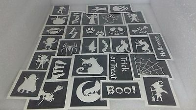 25 - 400 Halloween stencil for glitter tattoo face painting witch ghost pumpkin  - Pumpkin Face Painting For Halloween