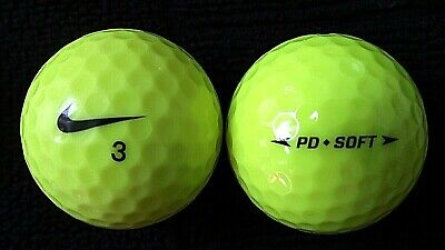 "10  NIKE  ""PD SOFT YELLOW"" - Golf Balls - ""PEARL/A"" Grades."