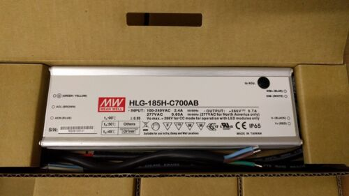Mean Well - 185W LED Driver- HLG-185H-C700AB
