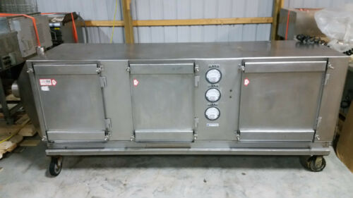 """Stainless Steel Industrial Dust Collector 480 Volt 104""""x35""""x68"""" Removed Working"""