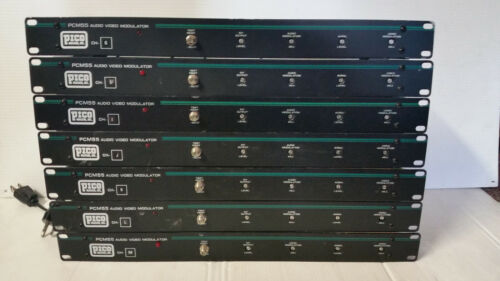 Pico Macom PCM55 Audio Video Modulator - Lot of 7 - CHs G-M - TESTED WORKING