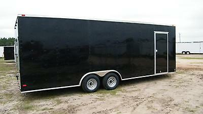 8.5x24 Enclosed Trailer Cargo Car Hauler V-nose Utility Motorcycle 26 28 2018