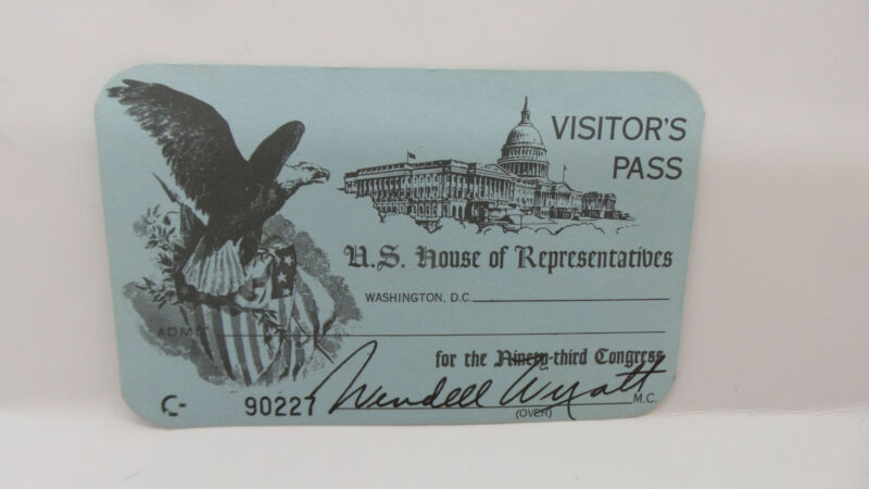 US House of Representatives Visitor