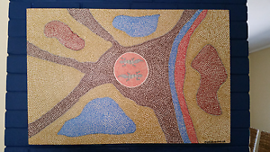 """""""Gecko Land"""", original indigenous painting. Latham Belconnen Area Preview"""