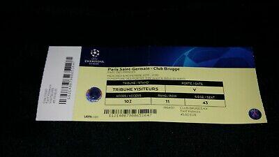 Ticket Paris Saint Germain PSG Club Brugge 6.11.2019 UEFA Champions League 19/20