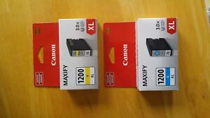 Canon Maxify Ink 1200 XL High Yield - Yellow and Cyan Cartridges
