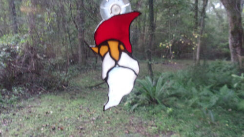 Stained glass Gnome suncatcher