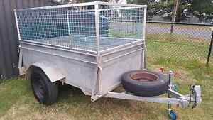 7x4 hot diped galvanized high side box trailer with cage rego Sydney City Inner Sydney Preview
