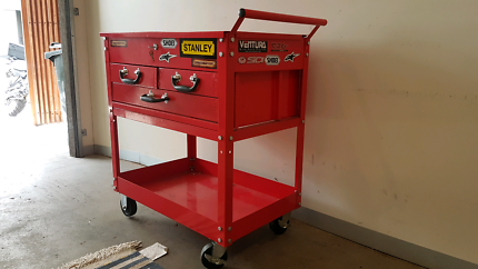 Portable mechanics tool box trolley
