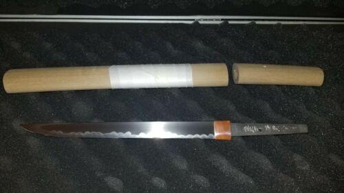 YOROIDOSHI ARMOR PIERCER TANTO Signed Japanese Samurai Dagger Sword