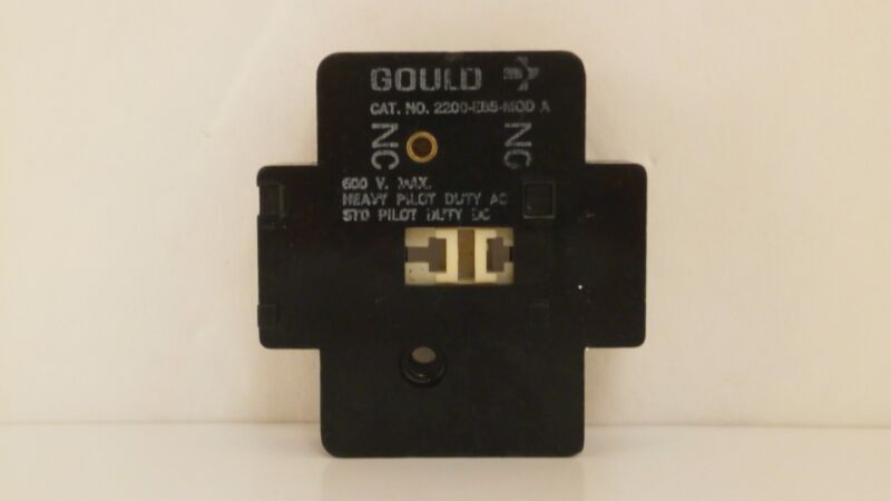 GOULD / TELEMECANIQUE AUXILIARY CONTACT 600V (N.C/N.O) 2200-EB5-MOD A