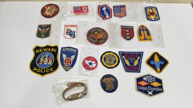 Vintage Sew On Patches Lot