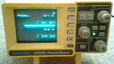 Tektronix 222ps Powerscout. Dual Trace Digital Oscilloscope W Case