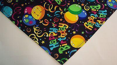 Dog Bandana/Scarf Tie On Happy Birthday Custom Made by Linda  Xs, S, M, L, (Tie Bandana Dog)