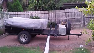 Off road camper trailer with motorbike rack Ringwood Maroondah Area Preview