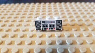 Lego Brick 1x3 Train Radio & Cassette Tape Player Pattern original - Old School