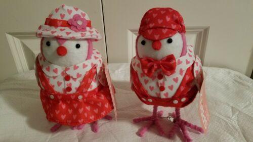 Valentine Target Spritz Fabric Birds Set of 2 Buttercup Sweetpea NWT