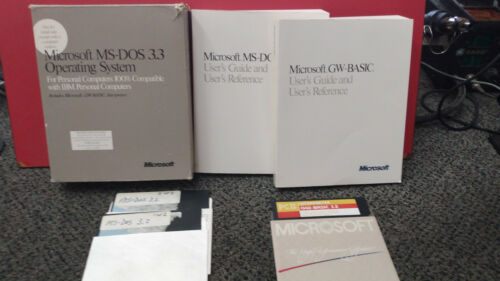 Microsoft MS-DOS 3.3 Operating System - Includes Floppy Disc and Manuals