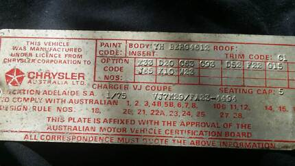 1975 Chrysler Valiant  Charger Rolling shell Geelong 3220 Geelong City Preview