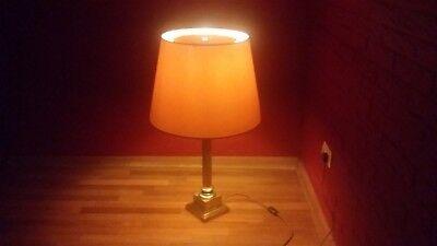 2 Stück Stehlampe (2 Stück Art Deco Prunk Steh Leuchten Stehlampe Bodenlampe aus Nachlass Messing)