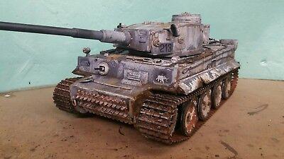 heng long 1/16 tiger 1 rc model tank winter camouflage