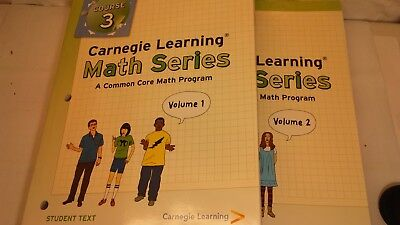 Carnegie Learning Course 3 Common Core Volume 1 2 Math Series. (Carnegie Learning Math Series Course 3 Volume 1)