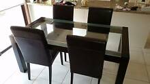 Glass top dinner table for sale Templestowe Lower Manningham Area Preview