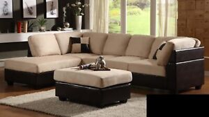 SECTIONAL SOFA WITH OTTOMAN FOR 649