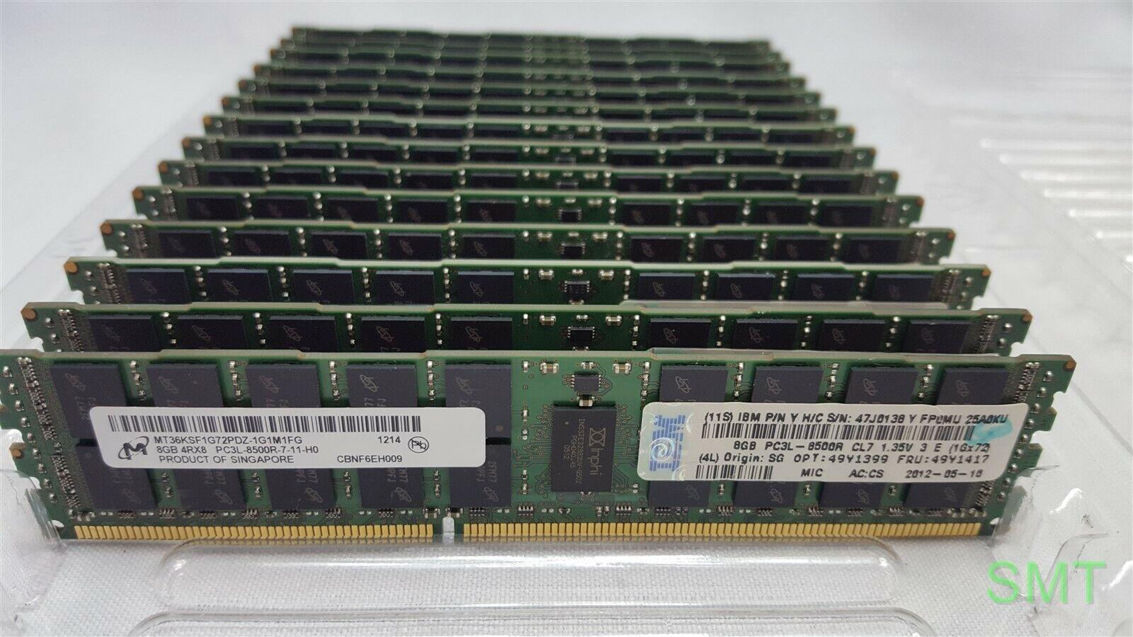 4Rx* PC3L-8500R Memory 49Y1417//47J0138 IBM 49Y1399 ECC DIMM 8GB