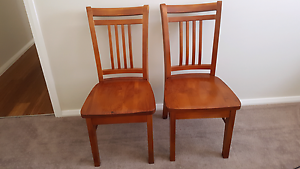 2 x Timber Dining Chairs Elderslie Camden Area Preview