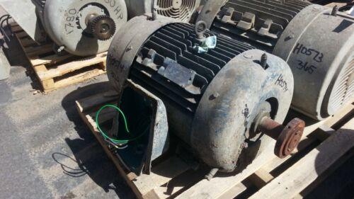 25 HP Siemens Electric Motor, 1200 RPM, 324T 326T Frame, TEFC, 460 V, 1.15 S.F.