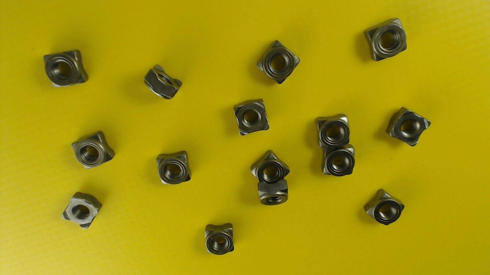 Reidl Vierkant-Schwei/ßmuttern M 8 DIN 928 A2 blank 50 St/ück