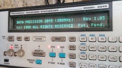Analogicdata Precision Polynomial Waveform Synthesizer Model 2045 Free Shipping