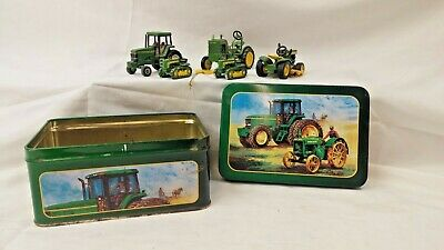 Collectible John Deere Tractor Set w/ Tin Box