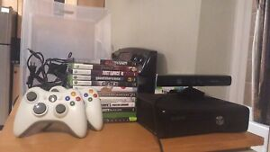 Xbox 360 w/ Kinect controllers and games