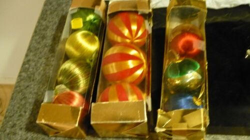 Vintage Silk String Christmas Tree Ornaments lot of 10
