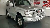 Mitsubishi Pajero 3 door 2.4cc silver japanese import corrosion free 97 in stock